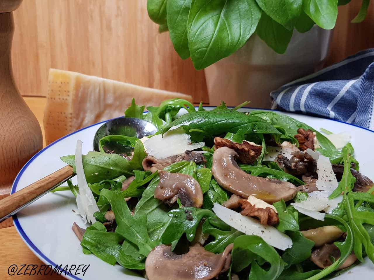 salade barbecue-roquette-champignon